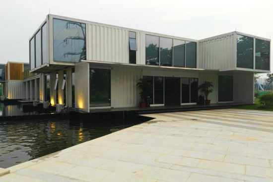 280 new shipping container office building