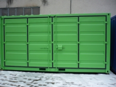 20 ft  open side container