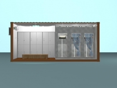 prefabricated container shower room