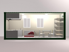 prefabricated container kitchen and dining room
