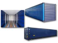 40ft curtain side container
